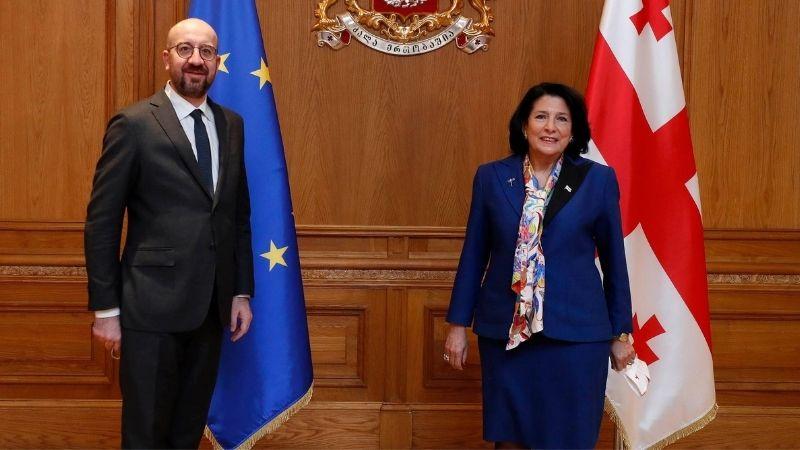 Совместное письмо президента Шарля Мишеля и Саломе Зурабишвили о политическом соглашении