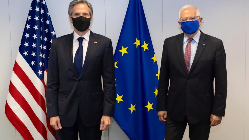 США и ЕС будут совместно реагировать на агрессию России против Грузии и Украины