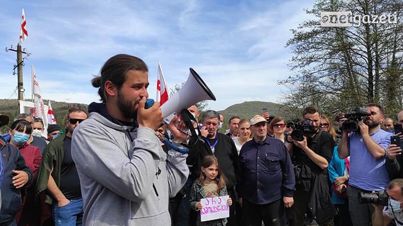 В Рустави прошел автопробег в поддержку «Защитников ущелья Риони»