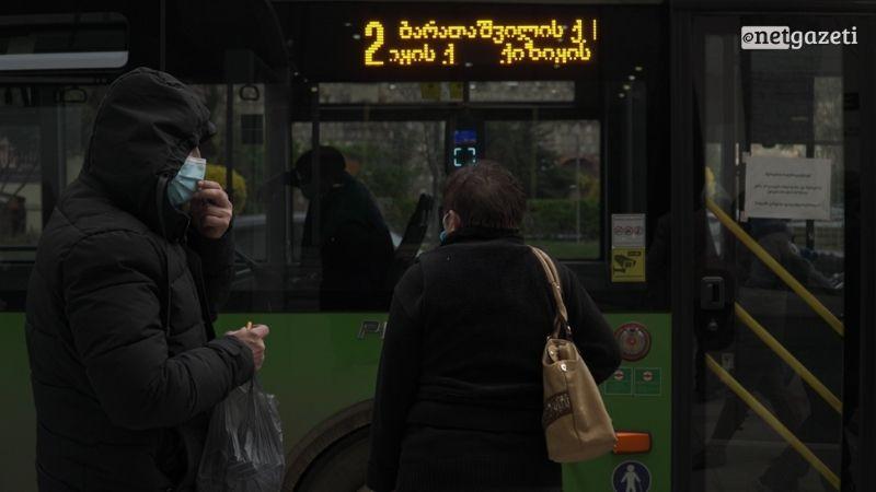В Тбилиси отключились транспортные табло