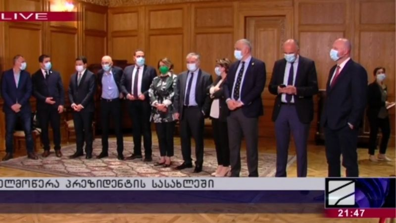 «Грузинская мечта» и часть оппозиции подписали документ предложенный главой Евросовета