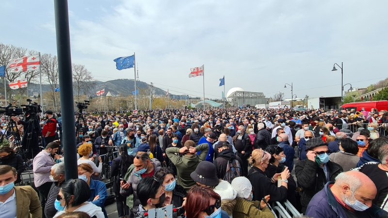 Акция Гии Гачечиладзе в Тбилиси
