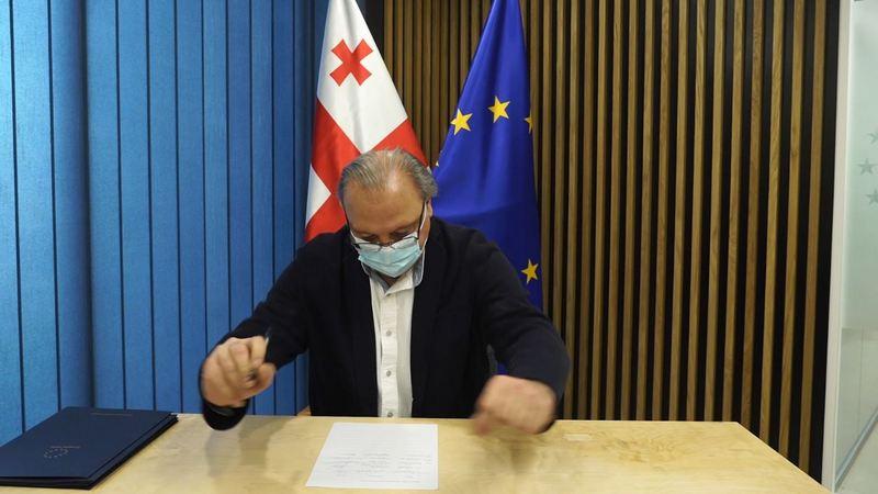 Григол Вашадзе подписал соглашение предложенное главой Евросовета