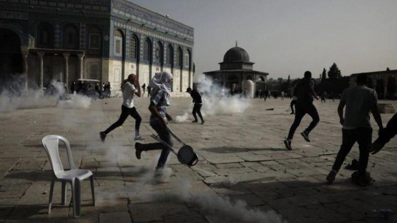 შეტაკებები ალ-აკსას მეჩეთთან. ფოტო: ალ-ჯაზირა