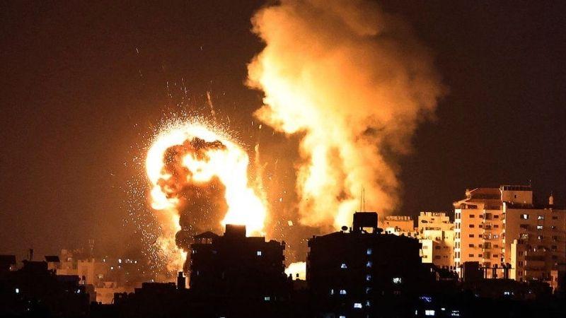 ისრაელის საჰაერო შეტევა ღაზაზე. ფოტო: MAHMUD HAMS