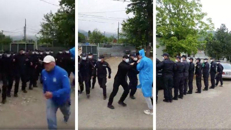 ინციდენტი რიონის ხეობაში: პოლიციამ აქტივისტები გზის სავალი ნაწილიდან ძალით გადასწია