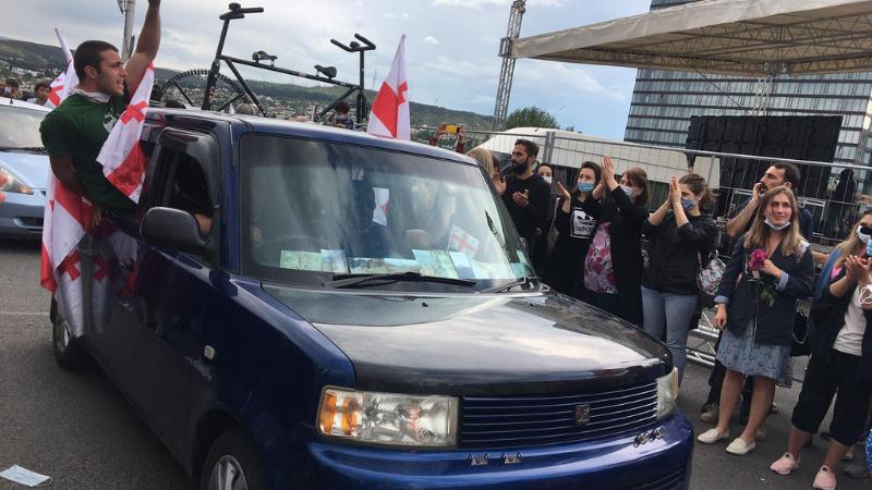 В Тбилиси завершился митинг противников строительства Намахвани ГЭС