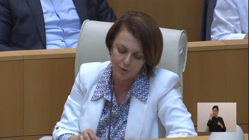 В зале заседаний парламента Грузии прозвучал гимн России