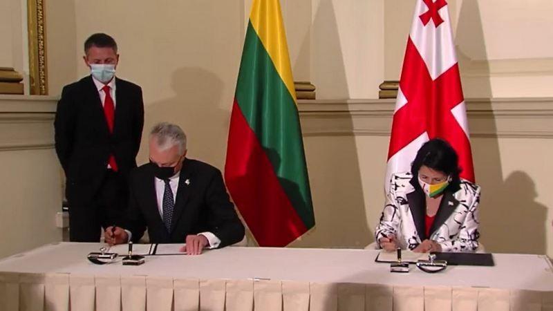 Президенты Литвы и Грузии подписалисовместную декларацию