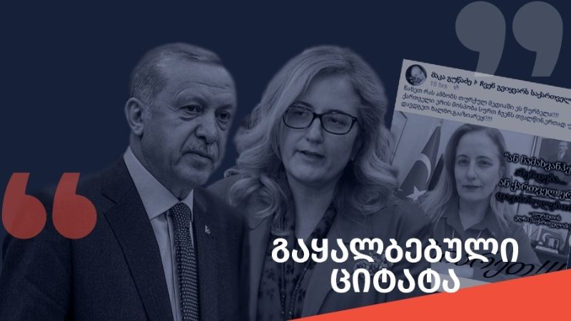 """როგორ ავრცელებენ """"ნამახვანჰესზე"""" ერდოღანისა და თურქეთის ელჩის ყალბ კომენტარებს"""