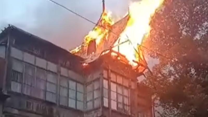 В Абастумани сгорел жилой дом