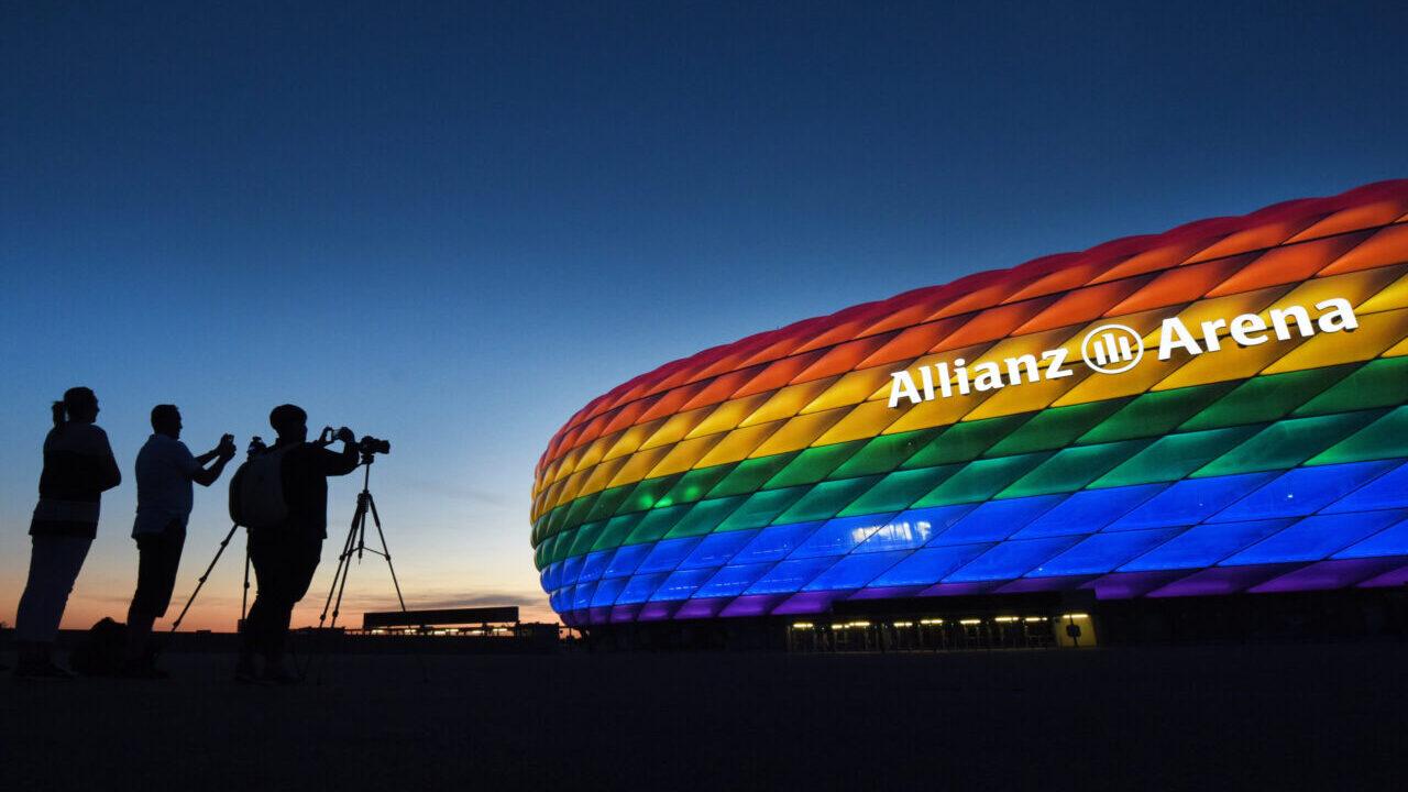 УЕФА отклонило заявку на радужную подсветку стадиона Allianz Arena
