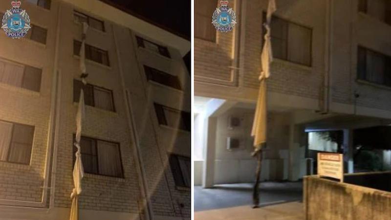 В Австралии мужчина сбежал из карантина используя «веревку из простыней»