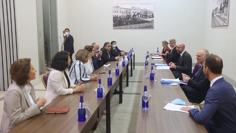 Шарль Мишель встретился с представителями оппозиционных партий