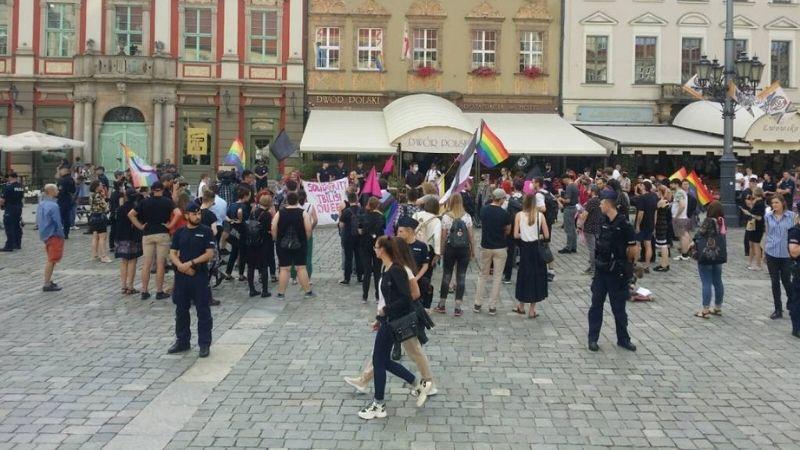 სოლიდარობის აქცია ვროცლავში. ფოტო: Wrocławskie Rewolucjonistki