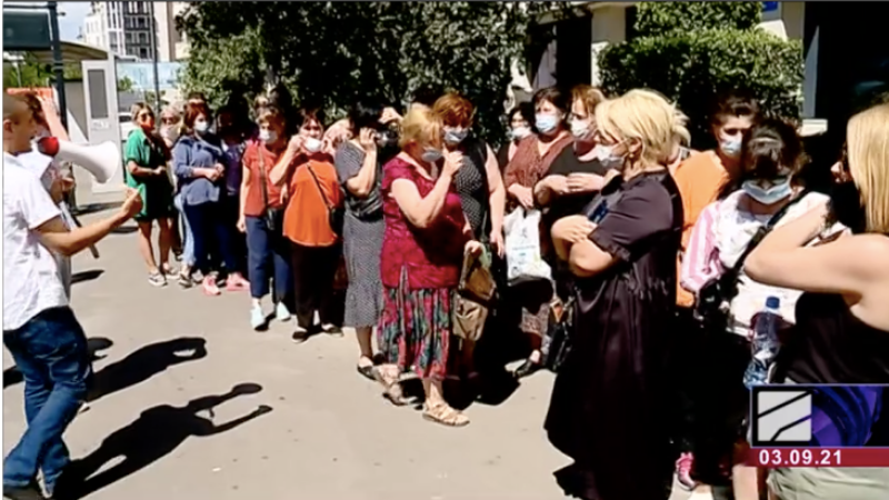 Акция в Тбилиси: Торговцы рынка требуют снизить арендную плату
