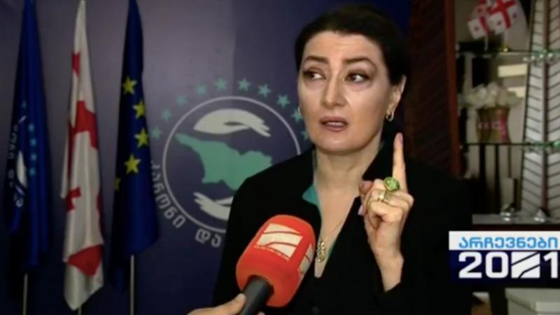 Чарквиани обратилась к премьеру Грузии: «Вы будете ответственны за кровопролитие, если решите начать гражданскую войну»