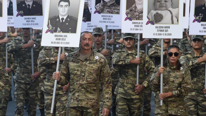 В Баку прошел марш памяти погибших во Второй карабахской войне