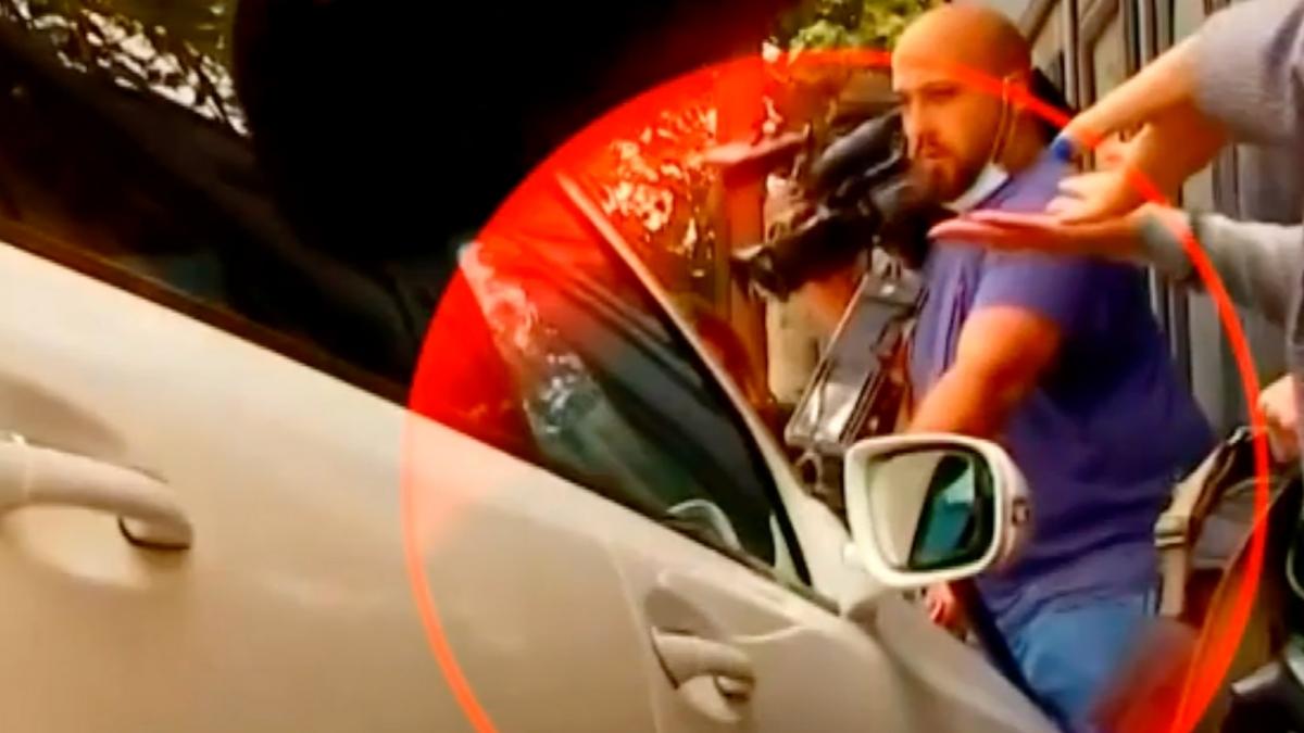 TV Pirveli: «Водитель машины намеренно столкнулся с нашим оператором»