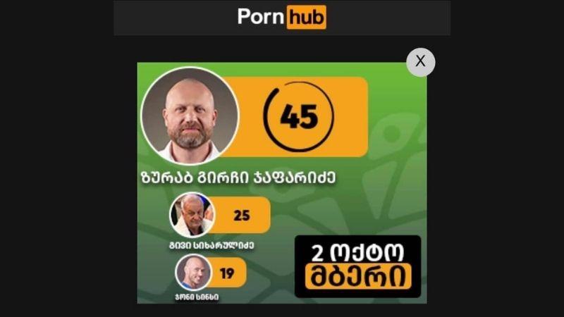 Грузинский политик разместил предвыборную рекламу на порносайте