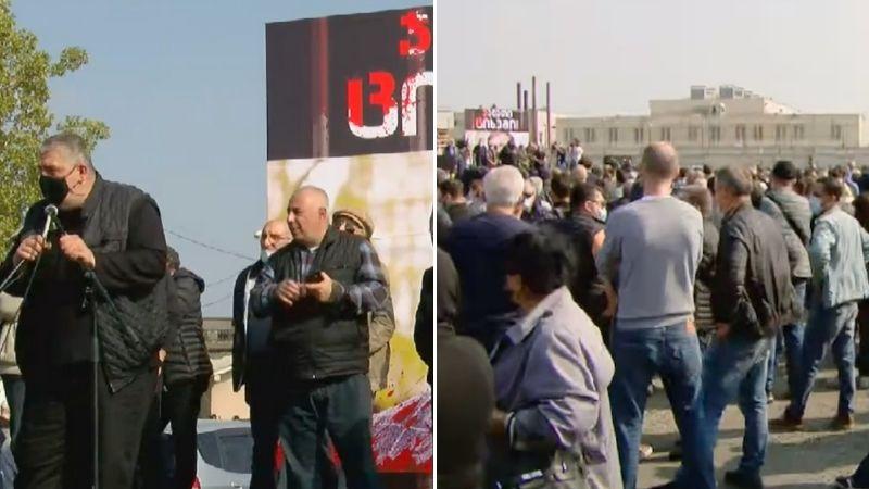 """""""ჯალათი ციხეში"""" – აქცია სააკაშვილის წინააღმდეგ რუსთავის ციხესთან"""