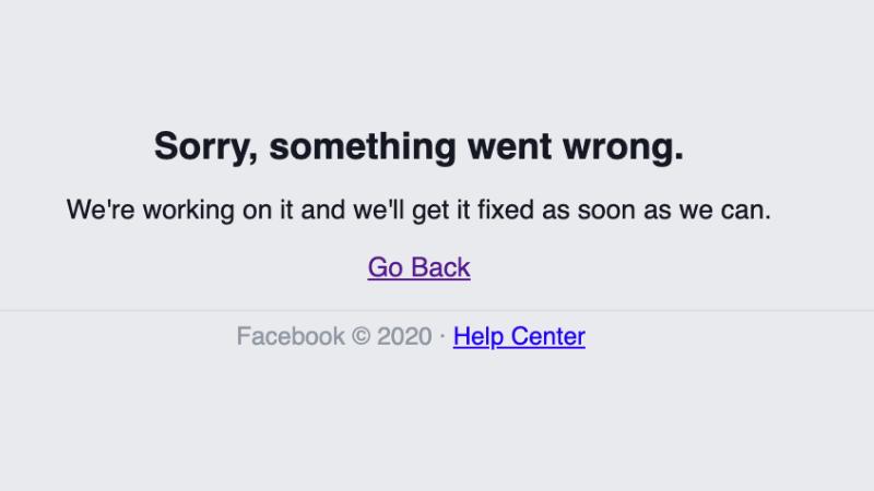 ფეისბუკის ვებსაიტი და მესენჯერი გაითიშა